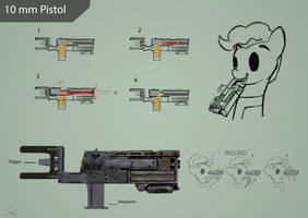 10 mm pistol Foe by SaMueL-Grey