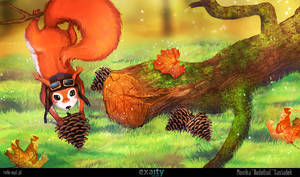 crazy squirrel by RudeOwl