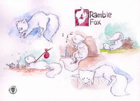 White fox by RudeOwl