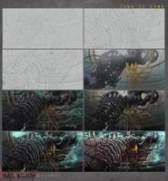 Step by step -Black Vertebra by RudeOwl
