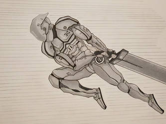 Armoured Swordsman by Tron06