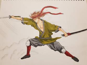 Samurai cutting a bullet. by Tron06