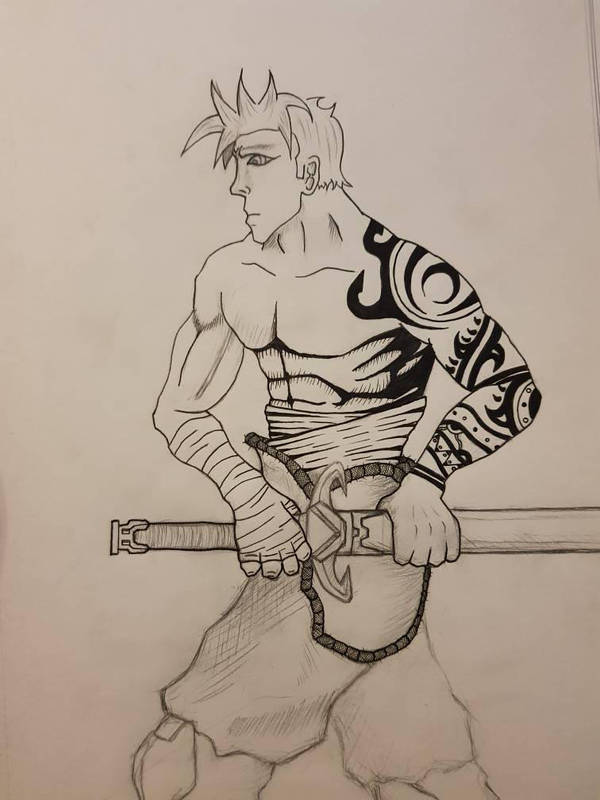 Warrior Sketch by Tron06