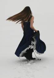 Dark Blue Dress 03 by Lynnwest-Stock