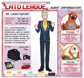 Lato League: Dr. Laken Dufort by LucarioGirl4Ever