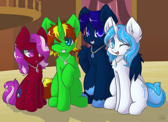 Commission - Vlyka, Crystal, Midnight, and Winter by Sapphfyr