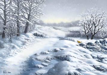Snowy Path by abyss1956