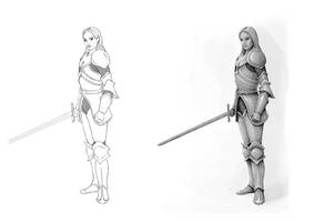 Female Warrior Concept by joeshawcross