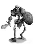 Skeleton Warrior by joeshawcross