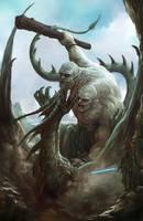 Giant vs Dragon by joeshawcross
