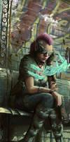 Cyberpunk Sketch by joeshawcross