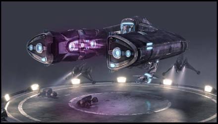 Halo Wars: Spirit Dropship by Pynion