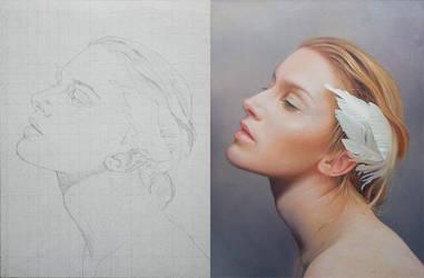 Retrato Angel by marchenart7