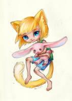 chibi cat sketch by BlackLynxLair