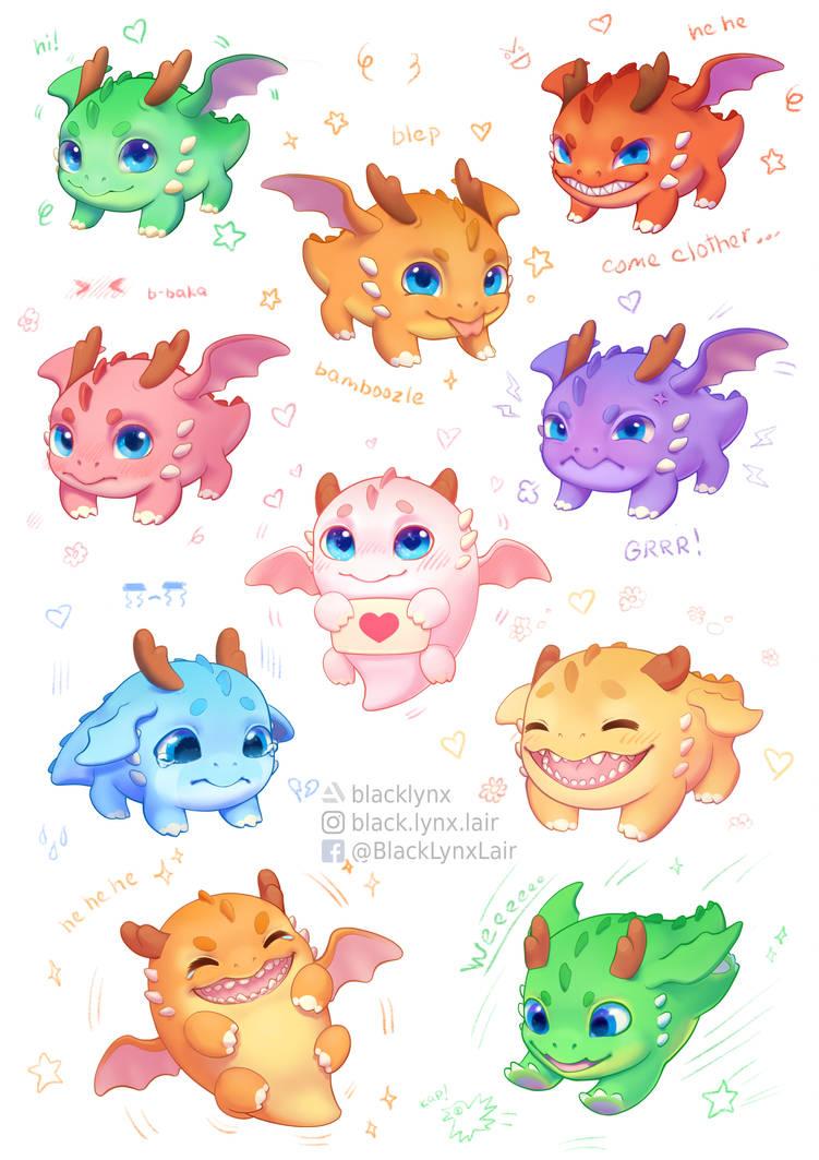 dragon cuties by BlackLynxLair
