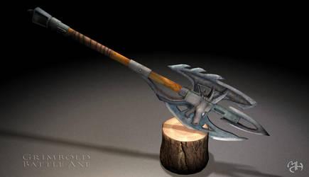 Grimbold dragon battle axe by Marqoni