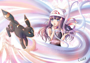 Pokemon - Dawn and Umbreon by Chr0n0-X