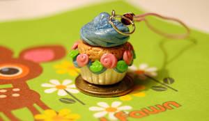 Polymer Clay Cupcake Charm by FatCatCharms
