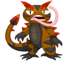 #580: Ferander, Wild Lizard Fakemon by K-Egg