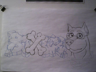 Graff on sketch paper by BOXICE