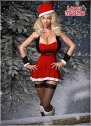 Jessica wishes you a merry christmas ... (IRay) by darkhound1