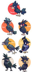 Murkrows by WindFlite