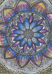 Rainbow Mandala by allysorge