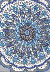 Blue Mandala by allysorge