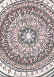 Smoky Pink Mandala by allysorge