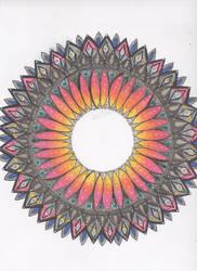 Sunburst Mandala by allysorge