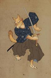 Samurai fox by Keaze