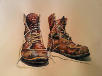Old boots by rougealizarine