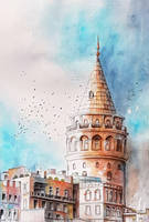 Galata Tower by rougealizarine