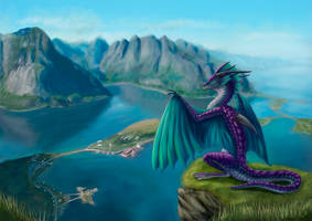 Lofoten Islands Dragon by ArtofaWhiteDragon