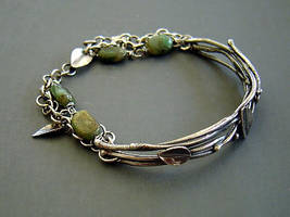 Silver Vine Leaf Bracelet by MarieCristine