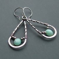 Blue Opal and Sterling earring by MarieCristine