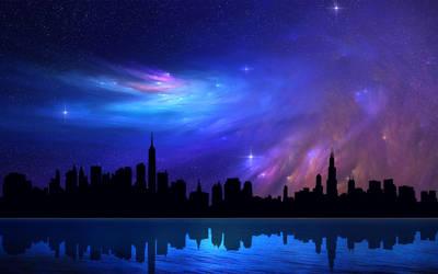 Nebula Skies 5 by welshdragon