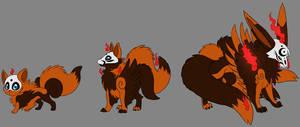 Shiny Phantom Foxes by Dragara