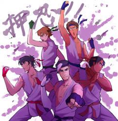 Karate Kids with Master Shiro by Gobusawa