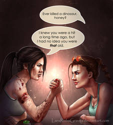 Lara vs Lara by LaraRobsGraves