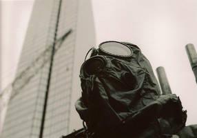 Gas Mask Thinker by gollum42