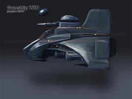 gunship WIP by joeydee-artworks