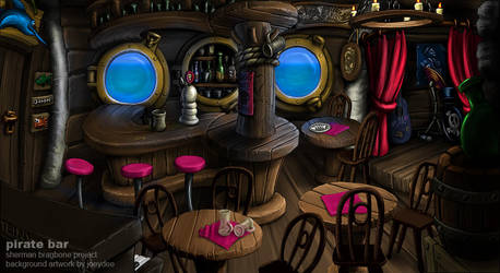 Pirate Bar by joeydee-artworks