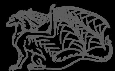Webwing Dragon Line Art by salaiek