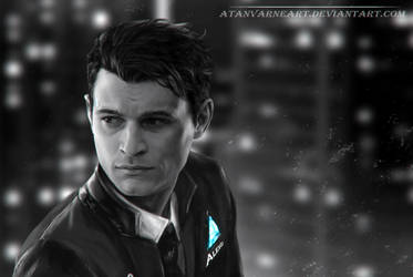 Connor.  Detroit: Become Human. by AtanvarneArt