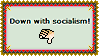 Stamp - Down with socialism by fmr0