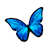 Icon - Blue Butterfly