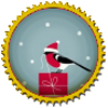 Stamp - Small XMas Birdy by fmr0