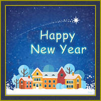 Greeting Card - Happy New Year by fmr0
