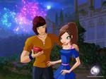 Violetta and her boyfriend by TamerofFire